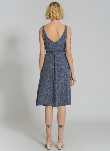 People By Fabrika Anvelop Askılı Elbise Lacivert
